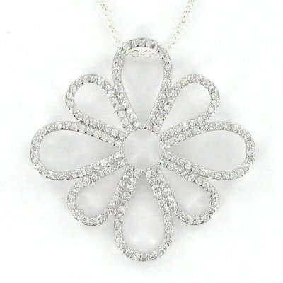 Ramona Singer Sterling Silver Pierced Flower Necklace. I have wanted this necklace for SO long!!!