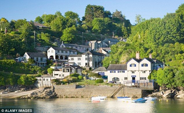 Ferryside, the house in Fowey where Daphne du Maurier first stayed  - Cornwall