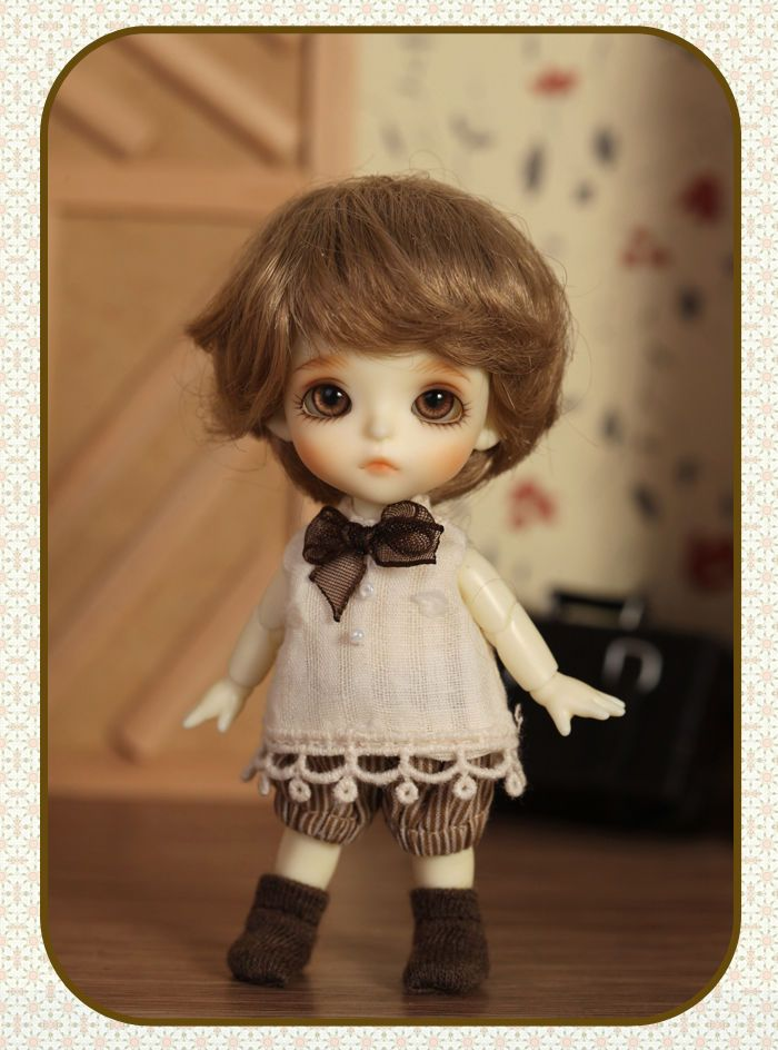 Free Eyes 1//12 BJD Doll Belle Little Cute Baby With Free Face Make up