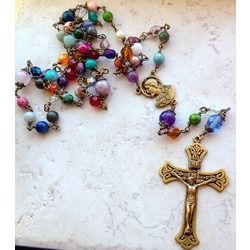 Cathedral Window Rosary | The Catholic Company...   So beautiful