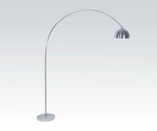 Mid century modern style floor standing arc lamp light