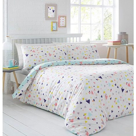 The  Confetti  bedding set from The Collection adds a playful finish to the bedroom with its bright, multicoloured print. In a super-soft cotton blend, its reversible design is a stylish choice for adding a dose of colour to the room.