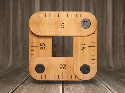 Measure iOS icon design found on Dribbble.
