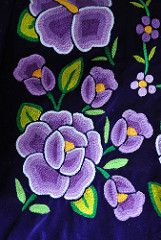 Oaxaca Flowers Mexico (Teyacapan) Tags: flowers flores mexico clothing embroidery mexican textiles bordados istmo tehuanas