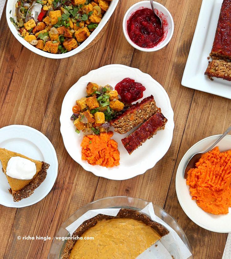 Vegan Lentil Quinoa Loaf, Cornbread Stuffing, Spicy Cranberry Sauce, Pumpkin Pie & Blendtec giveaway