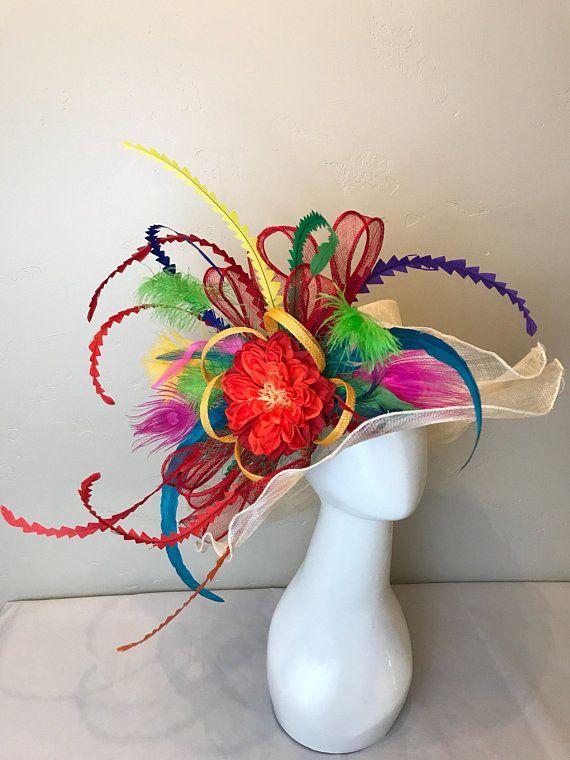 375ed55e Cinco de Mayo Kentucky Derby Hat, Custom hat, Tea Party Hat, peacock ...