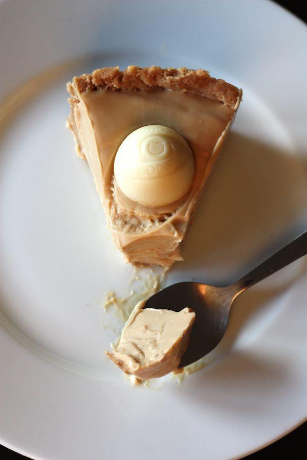 Creamy White Chocolate Cheesecake.
