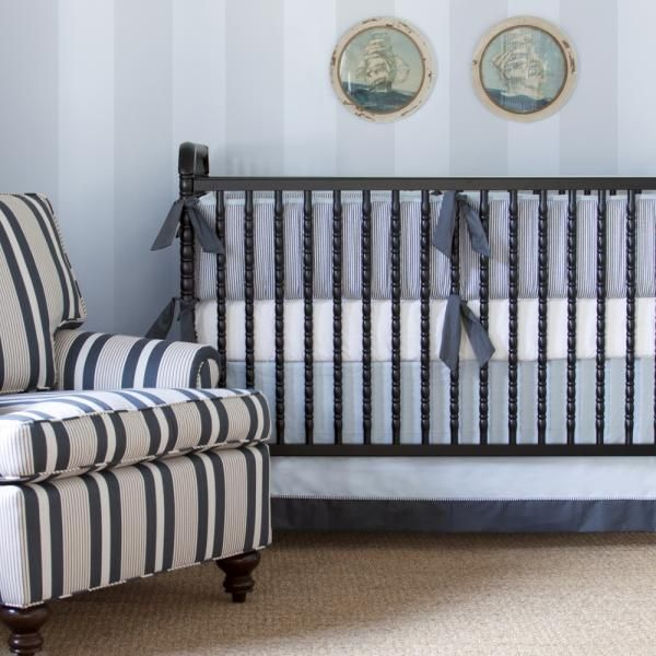 Buy Your Cape Cod Seersucker Crib Bedding Set By Annette Tatum Here The Is Simple And Sophisticated