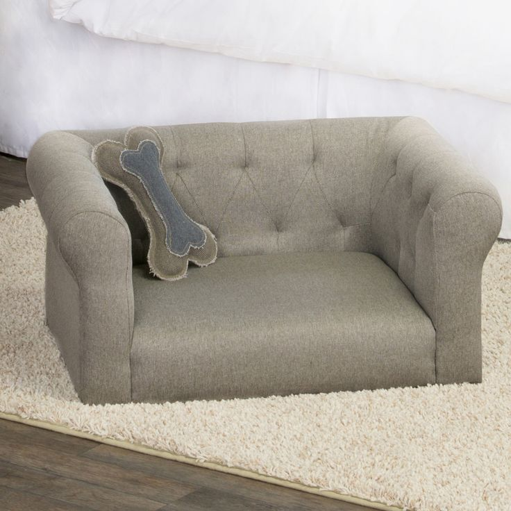 Features:  -High-grade furniture construction details.  -Perfect item for pet as well as beautify your home.  -Premium brushed heather fabric that is both soft and durable.  -Color: Stone gray.  -Size