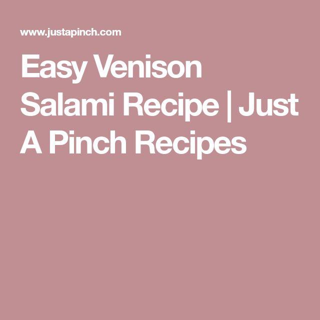 Easy Venison Salami Recipe | Just A Pinch Recipes