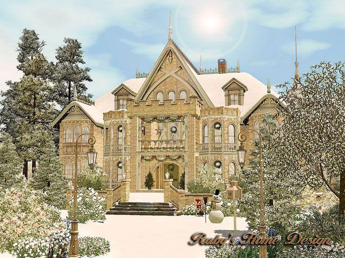 ruby's home design 璐比的房屋: sims3 snowy victorian 雪中的維多利亞