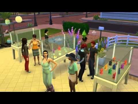 Die Sims4 - Erster Kuss im Laden vom Papa