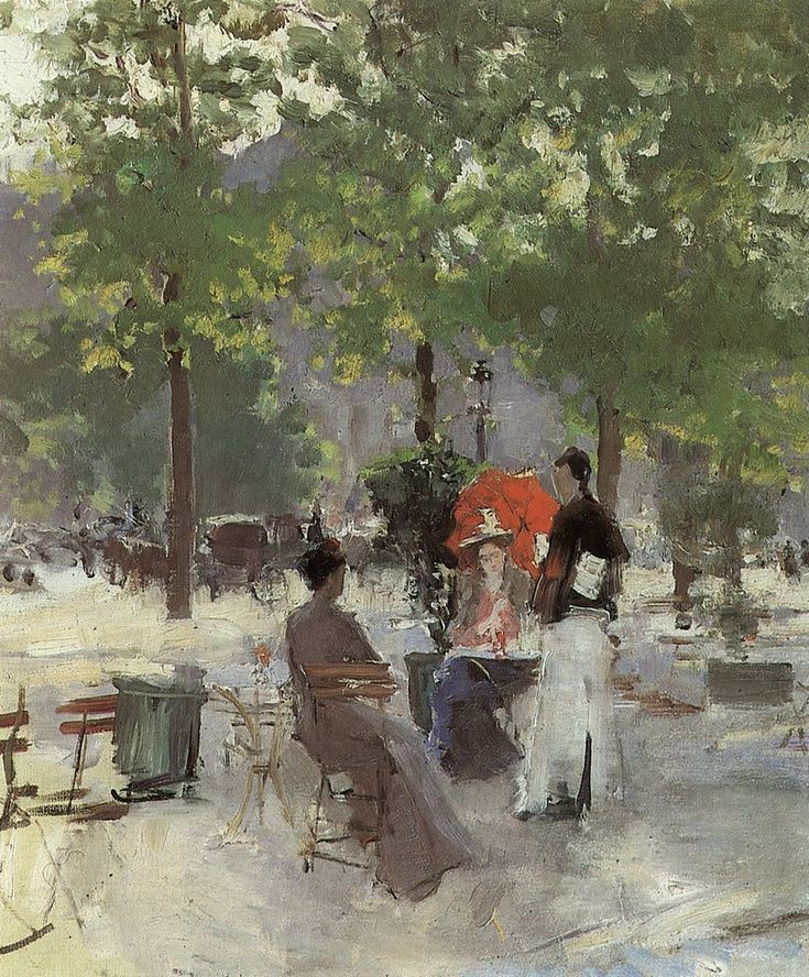 Le Cafe de Paris. 1890-e \\ Konstantin Alekseyevich Korovin-the brightest representative of Russian impressionism.
