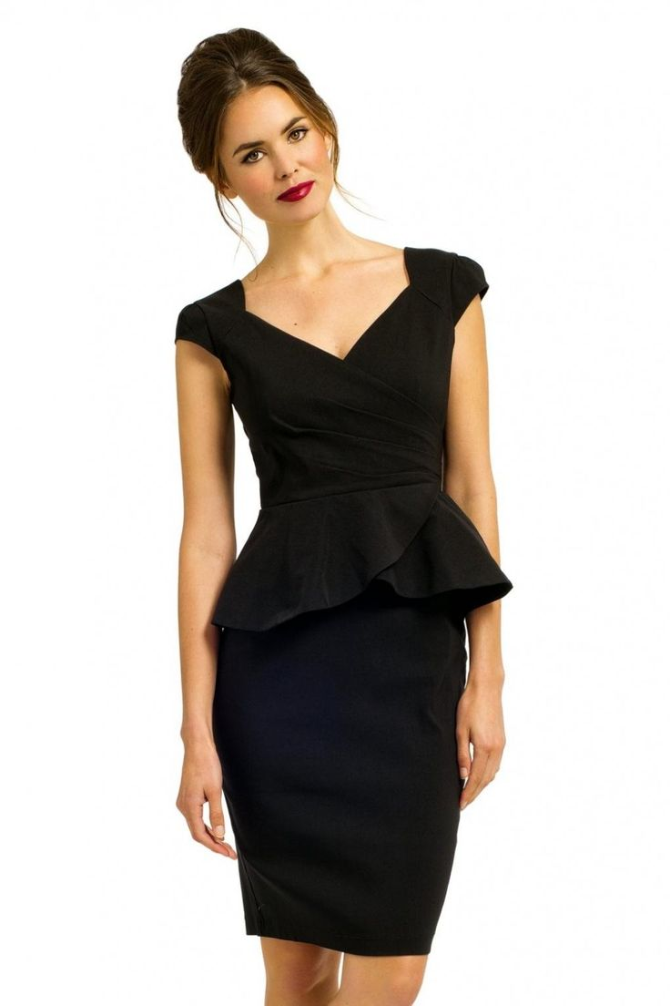 De perfecte Zwarte Peplum jurk | Te bestellen via Jurkjes.nl
