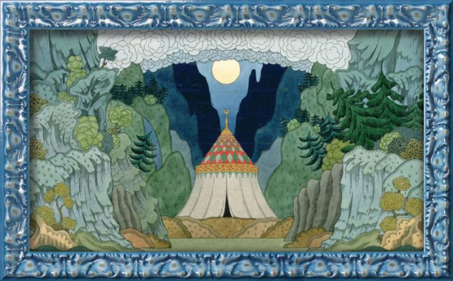 art 1: Jakovlevich Bilibin, Ivan Jakovlevich, Art Prints, Art Com, Nikolai Rimskykorsakov, Gicl Prints, Ivan Bilibin, Golden Cockerel, Nikolai Rimski