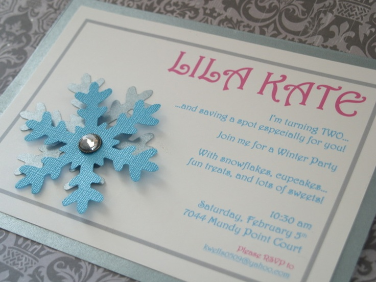 36 best Winter Wonderland Theme images – Snowflake Birthday Invitations