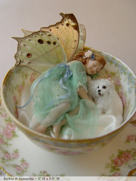 More wee and cut faries: Teacup Faerie and Pup