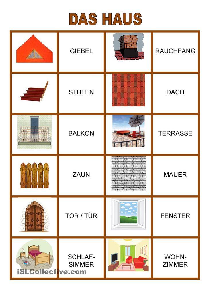 24 best haus und heim images on pinterest german language languages and learn german. Black Bedroom Furniture Sets. Home Design Ideas