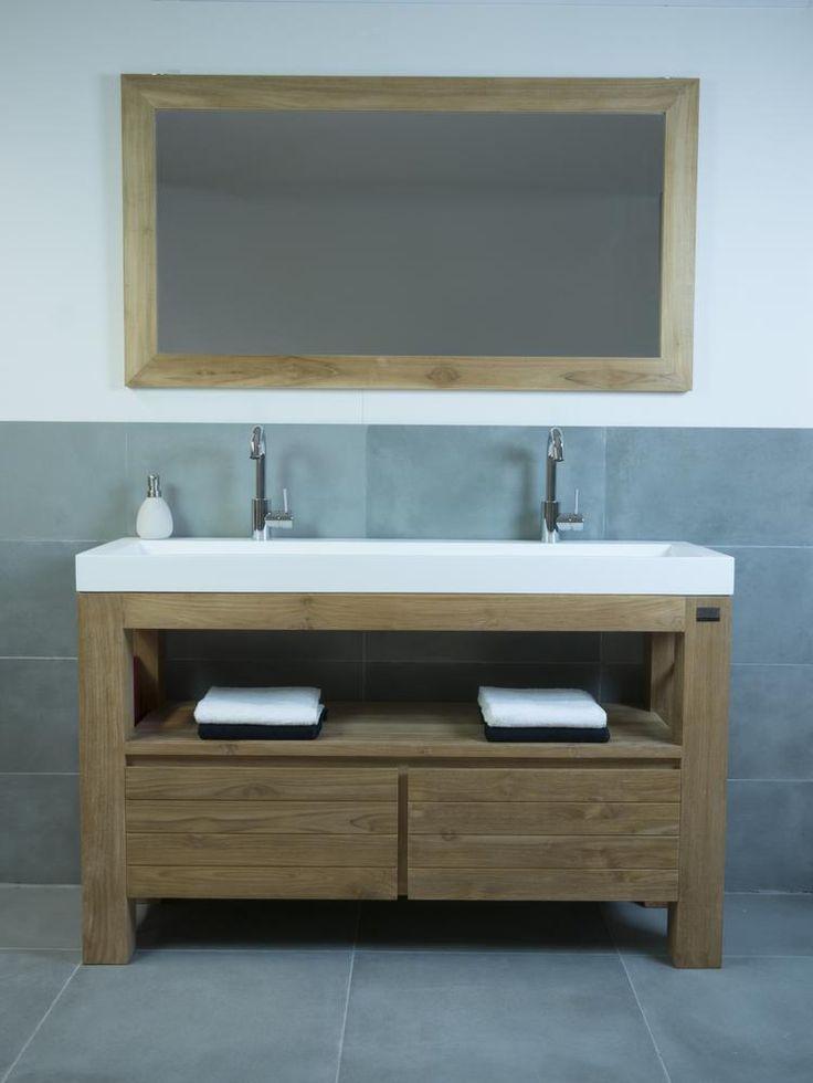 17 beste idee n over houten wastafel op pinterest badkamer boeren badkamers en badkamer wastafel - Solide teakhout ...