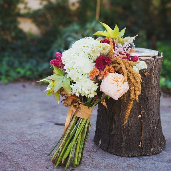 Coxcomb Fall Wedding Bouquets