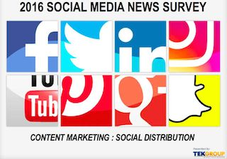 Final results of a social media news survey conducted by TEKGROUP International show the incredible growth of social media as a dominant news channel. Download the 2016 TEKGROUP Social Media News Survey report for free.
