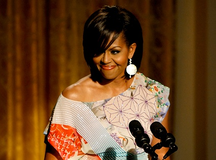 """Love her or hate her-  She is strong and opinionated. She is beautiful and well spoken and doesn't feel that any of those things need to be masked to fit the """" role """" of first lady."""