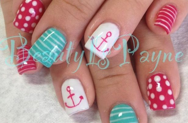 So cute! Shellac nail design.  #shellac #nails #naildesign