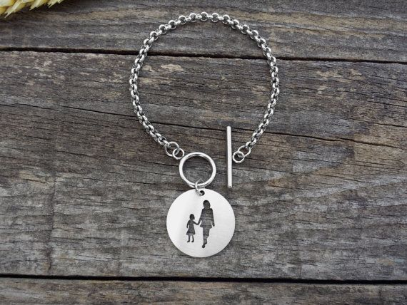 Family Silver Bracelet Family Jewelry Stainless by DreamcJewelry