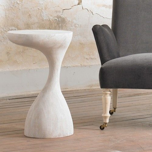 julian chichester duck bill side table bleached oak - Side Tables For Living Room