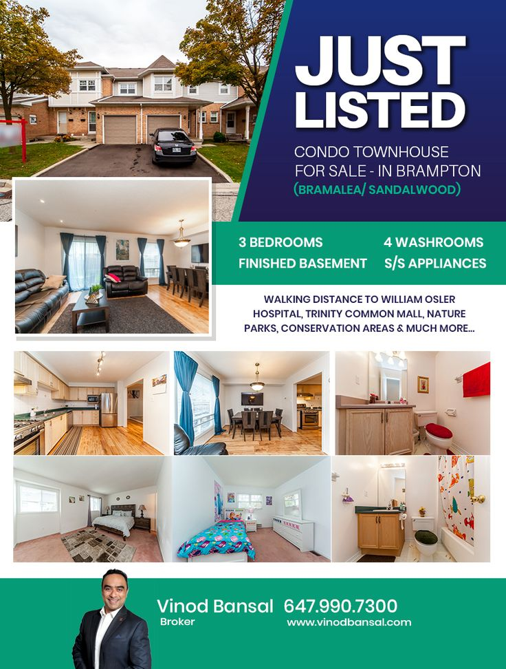 Condo Townhouse for Sale in Brampton in 2020 Townhouse