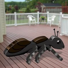 "3D Giant Ant Pattern.  People will certainly talk if this ant shows at your party. 8""H x 18""W x 8""D.   Pattern #2420  $12.95   ( crafting, crafts, woodcraft, pattern, woodworking, yard art, insect )"