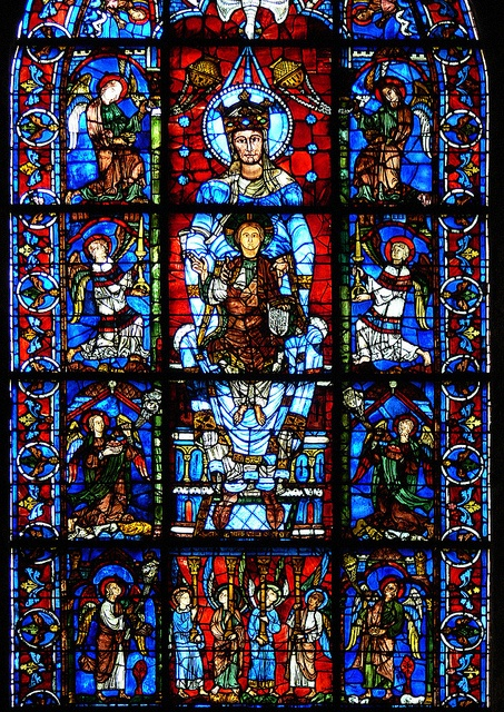 13th century window, in the south ambulatory of Chartres Cathedral