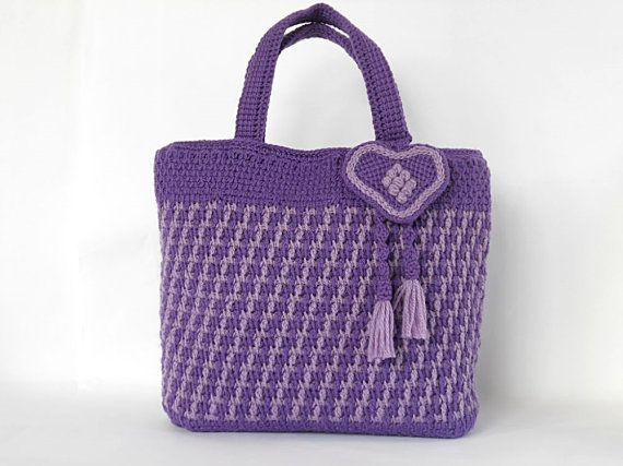 This listing is a crochet pattern and not finished item.  The pattern includes step-by-step instructions and detailed photo gallery.The description consists of 2 PDF files which includes photos of the process, starting from the crocheting till assembling the lining and the bag itself. It also includes a tutorial for the two-coloured motive with 15 photos included.  To complete this pattern, you are expected to already know crochet basics and TUNISIAN SIMPLE STITCH, TUNISIAN REVERSE STITCH…