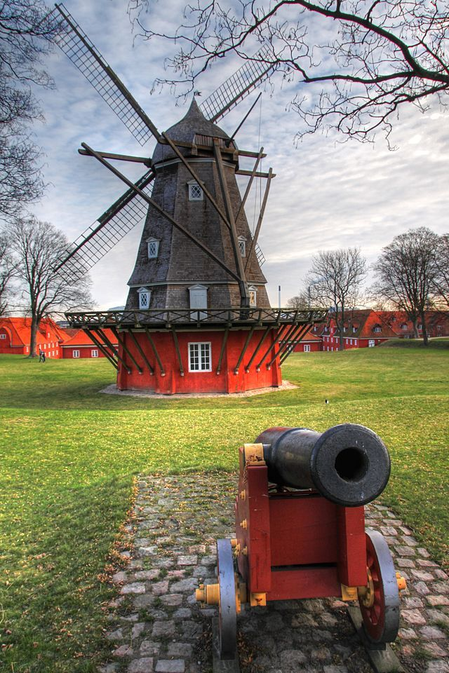 The windmill at Kastellet in Copenhagen,