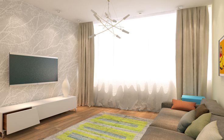 яркие оттенки в интерьере, дизайн в стиле минимализм, квартира в стиле минимализм, спальня ребенка