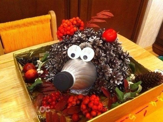 How do you like this idea of crafts in the garden? : Autumn creativity, creativity ideas with children with their own hands