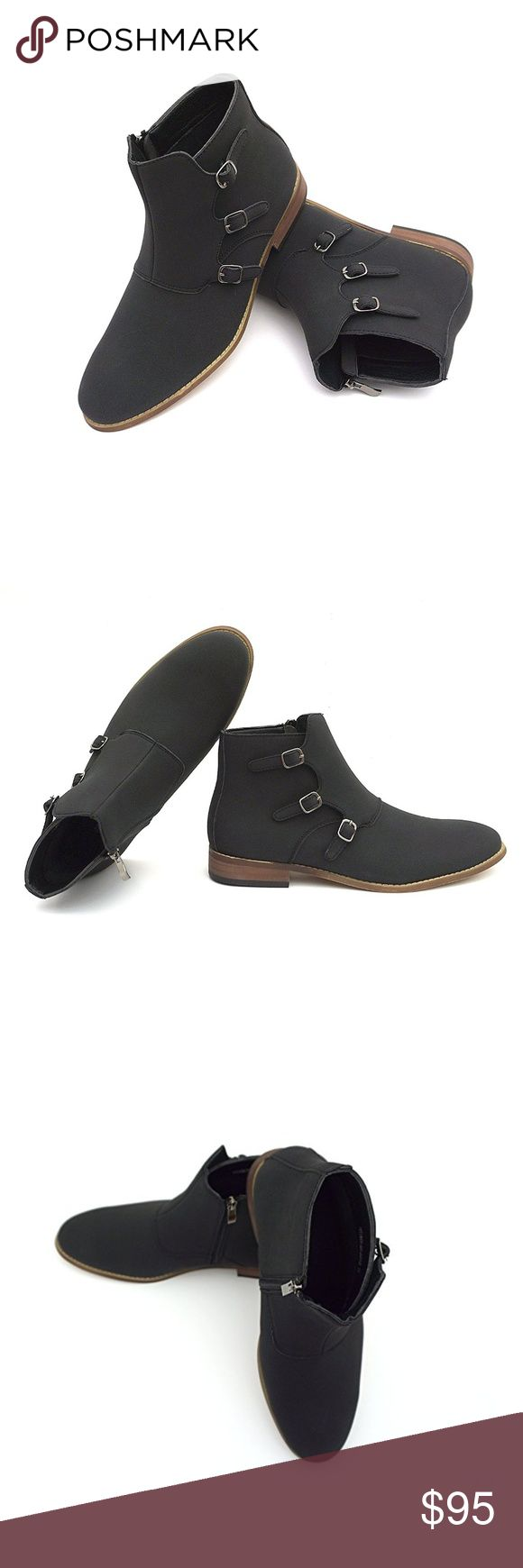 """Mens """"Hector"""" Side Zipper & Buckle Chelsea Boots NEW Mens """"Hector"""" Side Zipper & Buckle Chelsea Boots  Wearing these buckle ankle boots will immediately identify you as a person of great fashion sense and distinction. This boot shoe is a cross between a Jodhpur and a Chelsea boot, with its own unique style, so you can stand out this season. The Chukka boot is becoming a staple in all men's wardrobes. These pair of suede ankle boot shoes are made of super durable suede material.  Moda…"""