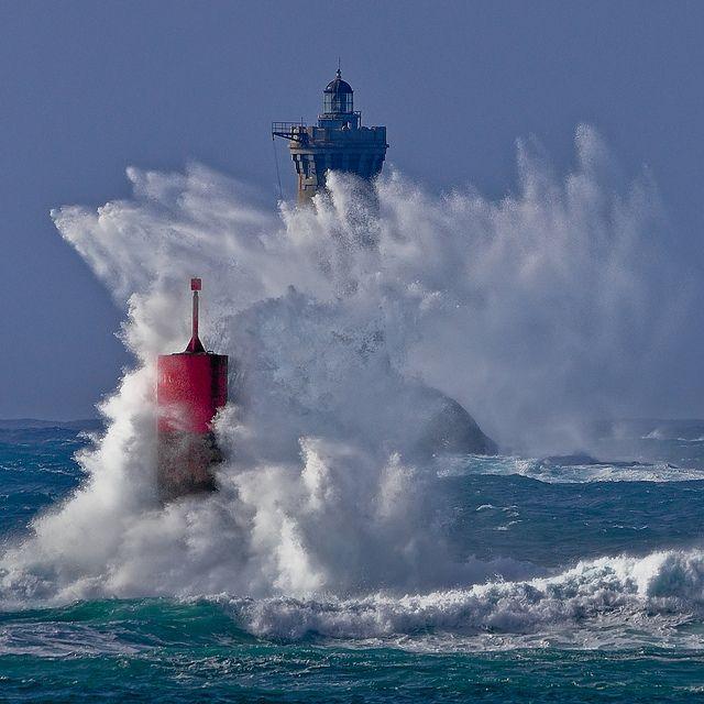 Lighthouses of Iroise. Phare du Four  et Brividic.  Porspoder.  Finistère .