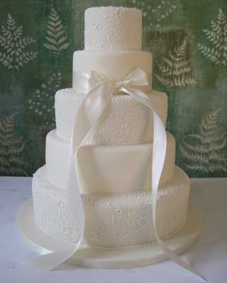 really like this cake!   maybe without the bow though