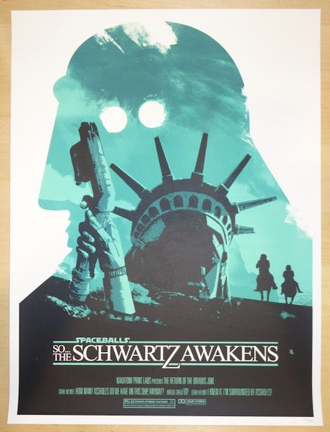 2015 Spaceballs III - Silkscreen Movie Poster by Joshua Budich
