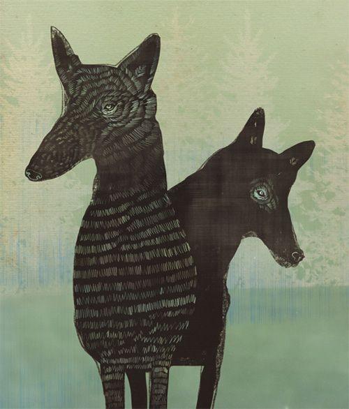 Anja Zaharanski 365 Dogs Project.: Dogs Illustration, Animal Art, 365 Dogs, 365 Projects, Art Design, Zaharanski 365, Anja Zaharanski, Animal Illustration, Black Wolves