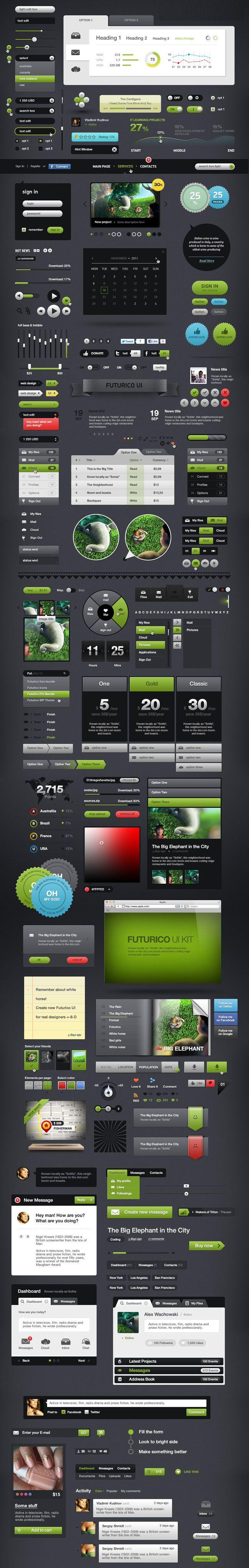 Futurico UI Elements