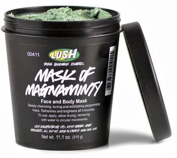 LUSH Mask of Magnaminty - finally a mask that doesn't come in a silly tube! Easy to apply a luscious layer before chill out sess in the bath