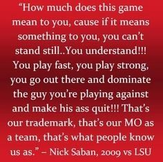 Nick Saban quote