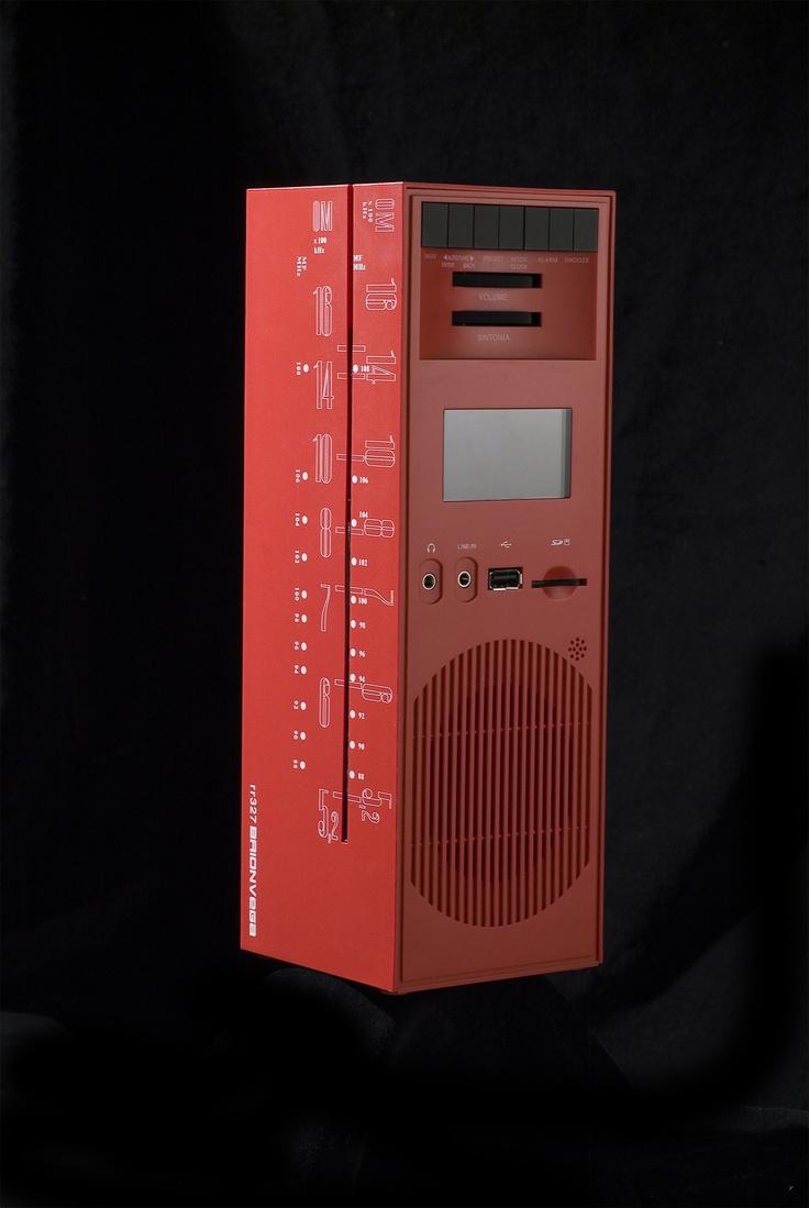Red Grattacielo #Brionvega rr227 #design