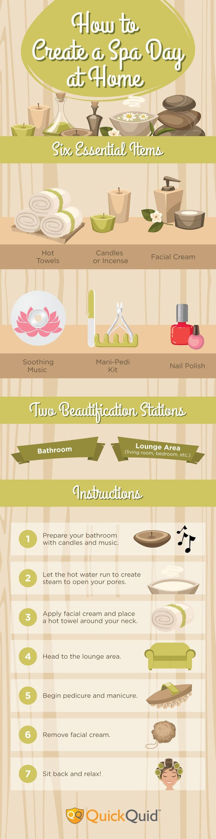 The Ultimate Guide To A DIY Spa Day, check it out at http://makeuptutorials.com/diy-spa-day-makeup-tutorials/