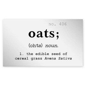 Oats Clear Jar Label