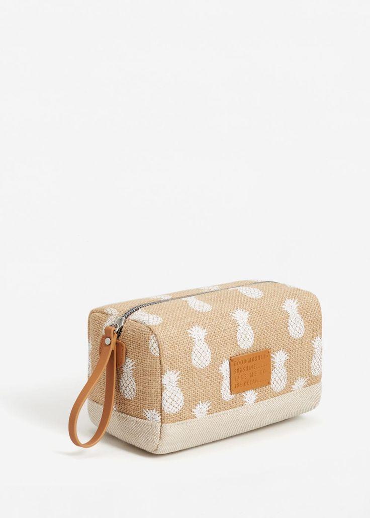 Jute cosmetic bag -  Women | MANGO USA