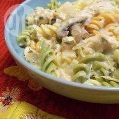Foto recept: Romige kip en pasta uit de slowcooker