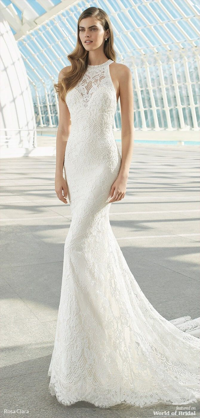 Rosa Clara Spring 2019 Wedding Dresses World Of Bridal Halter Wedding Dress Wedding Dress Sizes Bridal Dresses Mermaid [ 1400 x 670 Pixel ]